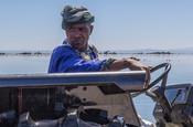 Kelp harvester on tractor
