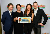 Dutch Postcode Lottery handing over cheque