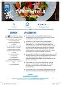 Recipe card for cod ceviche (German)