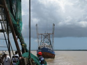 Fishing boats in Suriname