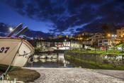 Sunrise landscape at Viavelez fishing port of Asturias