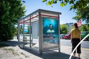 Bus stop advert