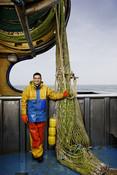 Jan Kramer dutch standing beside net trawl