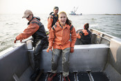Emily Taylor and crew on fishing boat | Wild Alaska Salmon Fishery Visit, Bristol Bay