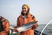 Wild Alaska Salmon Fishery Visit, Bristol Bay - Emily Taylor and Salmon