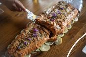 Wild Alaska Salmon Fishery Visit, Bristol Bay - Salmon processing and cooking