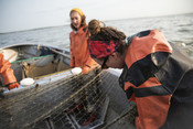 Fishermen with net, women | Wild Alaska Salmon Fishery Visit, Bristol Bay