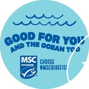 Good for you and our ocean too campaign - 3 x 3 Circular Sticker