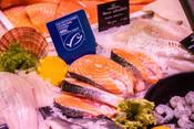 Salmon- fishmonger - fishcounter