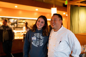 Chef Taichi and Emily Taylor at Sustainable Seafood Happy Hour: Salmon in Seattle