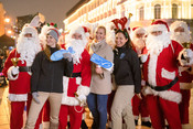 MSC Polish team with Santa Claus during winter event for consumers