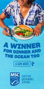 Banner ad - Winner for Dinner And the Ocean too - USA