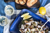 Wild South Australian pipis with saffron butter