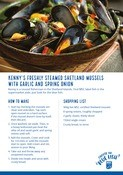Sustainable Seafood Week Mussels Recipe card