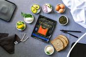 Overhead - Sockeye Salmon - Smoked - recipe & product photography