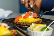 Scrambled Eggs and Smoked Salmon on Toast - recipe & product photography