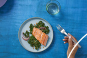 Plated Salmon Dish - Good for you and the ocean too campaign 2020