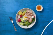 Plated Canned Tuna Dish - Good for you and the ocean too campaign 2020