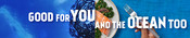 Companion Banner - YouTube - Good for you and the ocean too campaign 2020