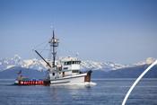 Bateau de pêche au saumon en Alaska