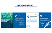 Insta Carousel 4 - Mixed blue and white solid backgrounds