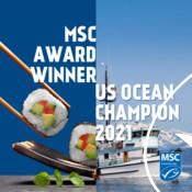 Social media graphics for MSC partner US Ocean Champion awards