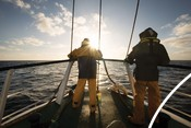 fishermen and boat