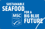 MSC sticker / badge 2021 - Sustainable Seafood for a Big Blue Future