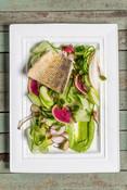 Walleye with Fresh Cucumber Salad