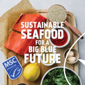 Discovery Ad Graphic (prepping seafood) - Seafood Month Campaign