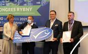 Photo from Fish Congress in Poland - awarding MSC certificate to Polish flatfish fishery