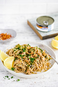 Easy Mediterranean Tuna Pasta by @Holistic.Foodie w/ Raincoast_Picture