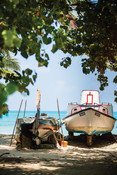 Boats on at harbour maldives
