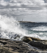 Windswept Surf at Peggys Cove Nova Scotia Canada