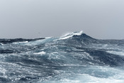 Big Ocean Swells in a Stormy Sea - Stock image