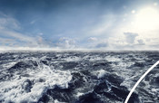 Dark stormy Sea Waters - Stock image