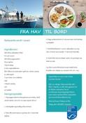 Plaice in sesame Danish recipe card