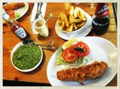 Fish and chips at Olleys Fish Experience