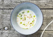 Ajo blanco herring soup