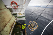 Measuring on research vessel