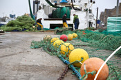 Trawl Nets on Peterhead Harbour