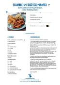 Scholle im Bierteigmantel mit Süßkartoffelpommes - Rezept