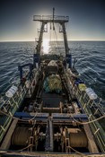 Boat from height south african Hake fishery