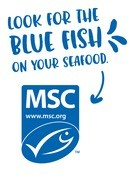 Look for the blue fish on your seafood