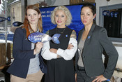 Daria Ładocha, Anna Dębicka and Joanna Ornoch during MSC press meeting