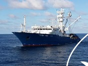 Tuna fishing boat in the Indian ocean
